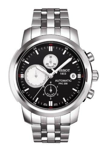 Tissot Men's T-Sport PRC 200 AUTOMATIC CHRONO Black/White Dial Watch T0144271105101