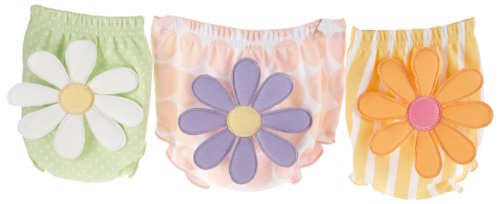 """Baby Aspen Baby """"Bunch O'Bloomers"""" Three Bloomers For Blooming Bums, Multi, 0-6 Months"""