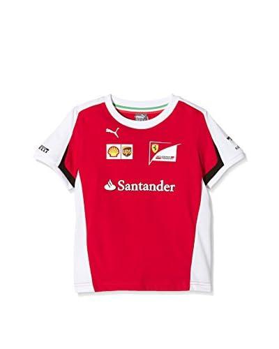 Puma Camiseta Manga Corta Sf Team Tee Rosso Corsa, 104 Rojo