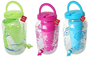 BC Classics Sun Tea Beverage Jar Dispenser with Spout and Tumblers by BC Classics