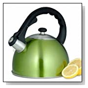 Creative Home Satin Splendor 2.8-Quart Whistling Tea Kettle - Lime Green