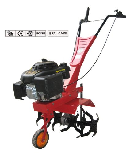 Heavy Duty 4.5 HP Portable Petrol Garden Cultivator Rotovator Tiller with 2 speed level up to 400mm width