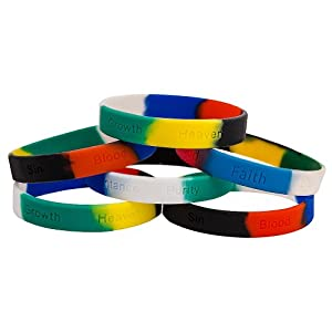 colors of salvation silicone bracelets