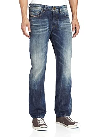 Diesel Men's Safado Regular Slim Straight Leg Jean 0803M, Denim, 33x34