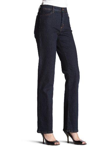 NYDJ Women's Marilyn Straight Jeans, Blue/Black, 12