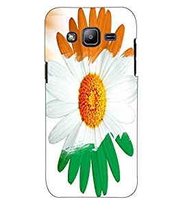 ColourCraft Beautiful Flower Design Back Case Cover for SAMSUNG GALAXY J2 DUOS
