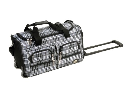 rockland-luggage-22-inch-rolling-duffle-bag-black-cross-plaid-one-size