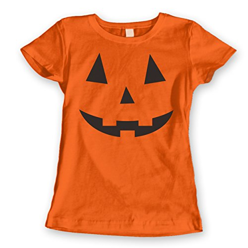 Adult Pumpkin Face Halloween Costume Womens Shirt