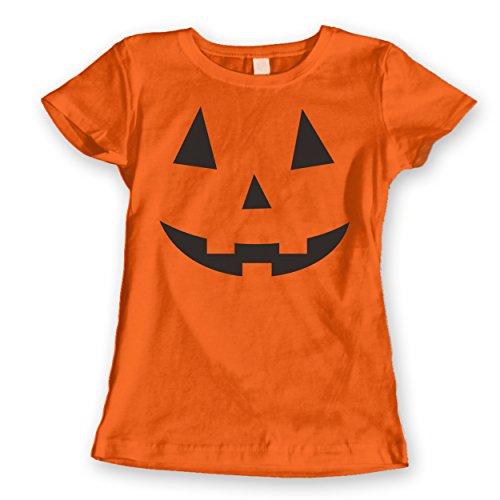 [Adult Pumpkin Face Halloween Costume Womens Shirt Large Orange] (Adult Pumpkin Halloween Costumes)