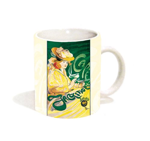 Fernand Touissaint Cafe Jacqmotte Vintage Coffee Advertising Art Ceramic Gift Coffee (Tea, Cocoa) 11 Oz. Mug