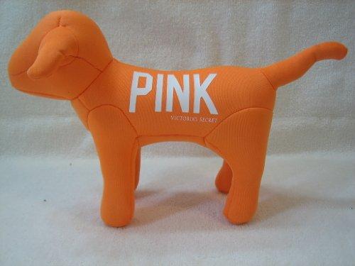 Victoria's Secret Flourescent Orange 1986 Pink Dog Plush - 1