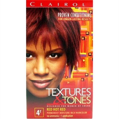 Clairol Professional Textures And Tones Permanent Hair Color, Red Hot Red front-970332