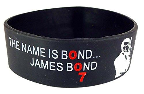eshoppee James bond silicone wrist band