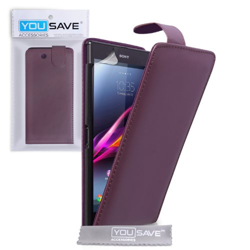 yousave-accessories-se-ha01-z634-funda-para-sony-xperia-z-ultra-piel-sintetica-color-morado