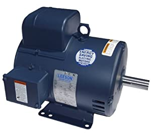 5 hp 3450rpm 184T Frame ODP 208-230 volts Leeson Electric Motor # 131616