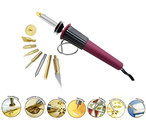 Woodburning Soldering Tool Set All Purpose Leather Paper Crafting Stamping Stencil Hot Knife Cutting (Wood Stove Gasket Rope 1 4 compare prices)