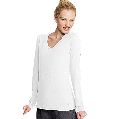 Champion Women's Long Sleeve Jersey Tee, White, X-Large