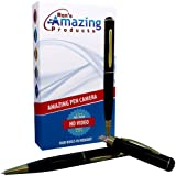Amazing Pen Camera(TM) - Upgraded Premium HD Effect DVR With Built In 8GB Memory And High Quality Digital HD 720p Lens To Produce Great Videos(1280x720) And High Resolution Photos(1600x1200) - A Fun Hidden Camera Spy Gadget - Super Easy To Use With Full Size USB, Just Plug And Play - Pinhole - Mini CAM - Pencam - Recorder - Black & Gold Executive Pen With 90 Day Money Back Guarantee and Two Year Product Warranty! By Ron's Amazing Products® Model RAP-ASP2