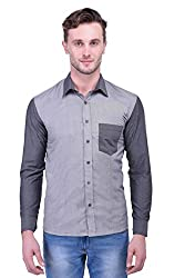 Trendster Grey Solids Full Sleeve Casual Men's Shirt
