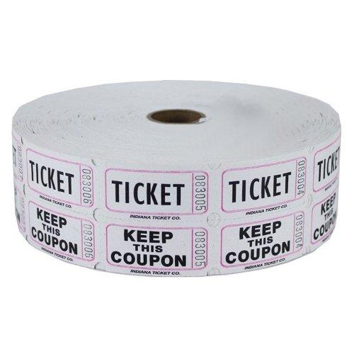 Raffle Tickets 2000 per Roll: White (White 50 50 Tickets compare prices)