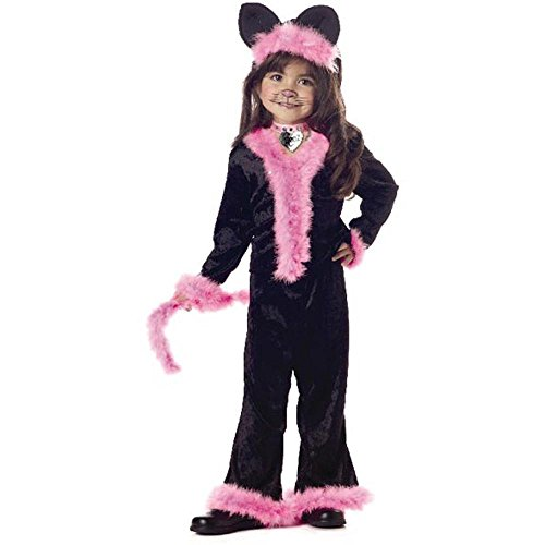 Child's Toddler Pretty Pink Kitty Cat Halloween Costume (2-4T)