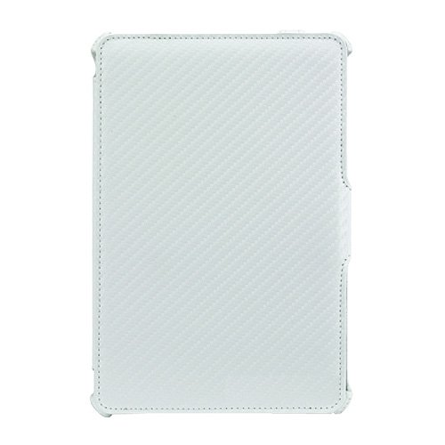Imagen de Amzer Shell Portfolio funda Folio Multi Angle para iPad Mini Apple - Carbon / Fiber Texture White (AMZ95177)
