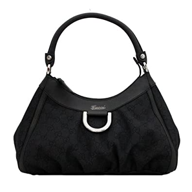 Amazon.com: Gucci Monogram Canvas & Leather Trim Hobo Bag: Shoes