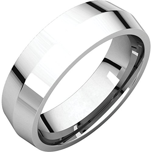 18K White Gold 5Mm Knife Edge Comfort Fit Wedding Band Ring - Bridal Jewelry