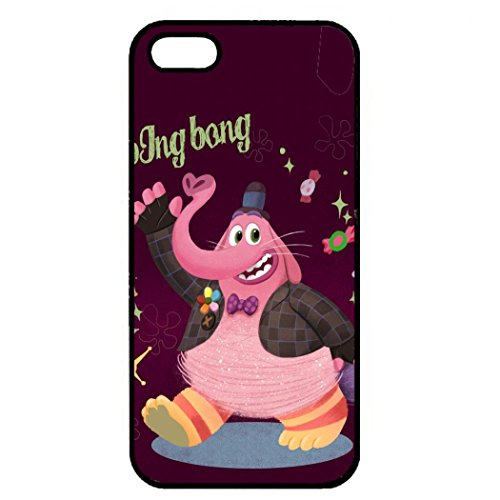 Inside Out Iphone 5/5S Case, Bing Bong Inside Out Phone Case Black Hard Plastic Case Cover For Iphone 5/5S