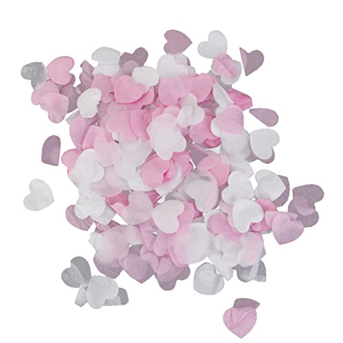 Mini Paper Love Hearts Confetti Wedding Party Decoration 15g/Pack White and Light Pink