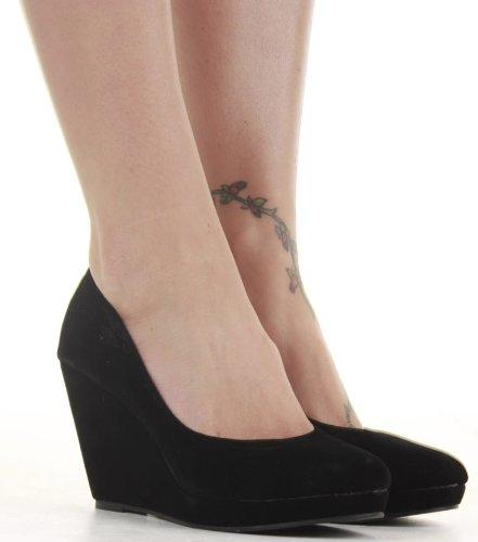 Ladies Wedge Shoes Smart Pumps Wedges High Heel Classic Court Platform Size with shoeFashionista boutique bag