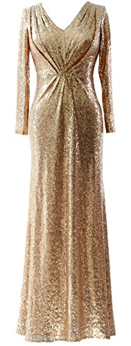MACloth-Women-Long-Sleeves-V-Neck-Sequin-Evening-Dress-Wedding-Party-Formal-Gown