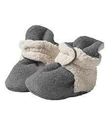 Zutano - Cozie Fleece Furry Lined Bootie - Gray - Size 3 month