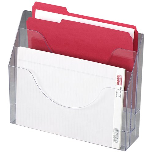 Rubbermaid Optimizers Wall-Mounted Multi-Purpose Organizer, 3-Pocket, Clear (96050Ros) front-215295
