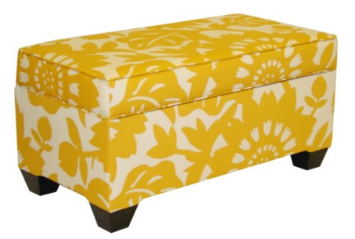Skyline Furniture A-6225ST-GERBERSUN Upholstered Storage Bench in Gerber Sungold at Sears.com