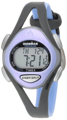 Timex Women's T5E511 Ironman Sleek 50-Lap Gray/Purple Resin Strap Watch
