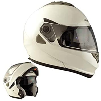 Casque moto modulable CHOK 13 UNI - Double écran - Blanc