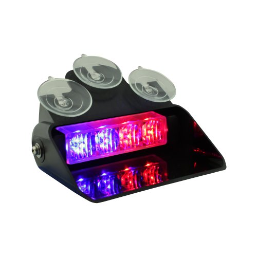 Lamphus Solarblast 4W Led Emergency Vehicle Windshield Strobe Warning Police Dash Light ( Other Color Available ) - Blue Red
