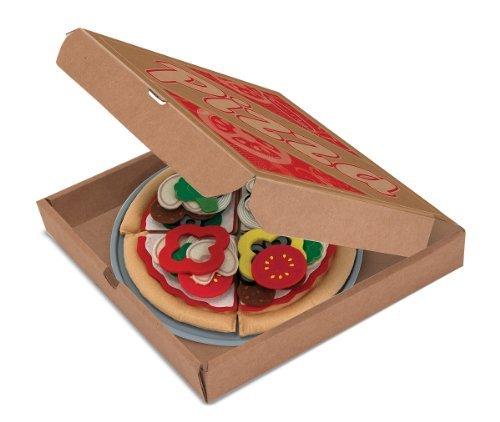 Melissa & Doug Felt Food - Pizza Set Toy, Kids, Play, Children front-752583