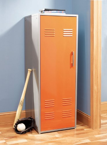 Youth Bedroom Orange Storage Locker
