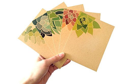 set-of-10-succulent-notecards-flat-note-cards-printed-on-recycled-paper