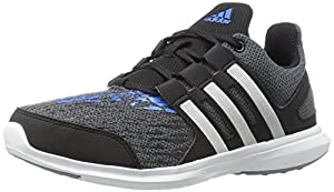 adidas Performance Boys' Hyperfast 2.0 K Running Shoe, Onix/Black/Unity Blue Fabric, 13.5 M US Little Kid