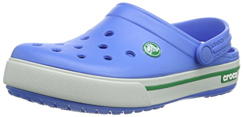 Crocs Unisex Crocband Ii.5 Clog 12836,Varsity Blue/Kelly Green,10 B(M) Us Women / 8 D(M) Us Men