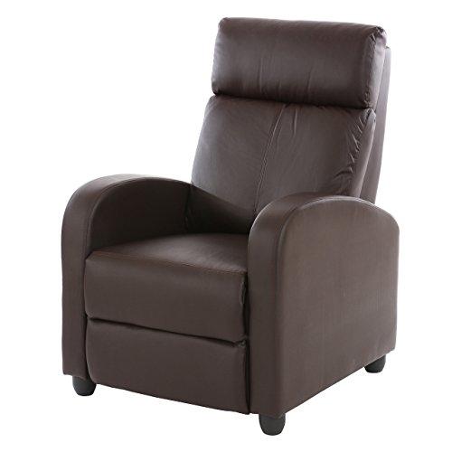 Fernsehsessel-Relaxsessel-Liege-Sessel-Denver-Kunstleder-braun