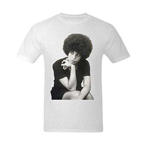 Nehasigo Men's Angela Davis Image Design T-shirt (Free Angela Davis compare prices)