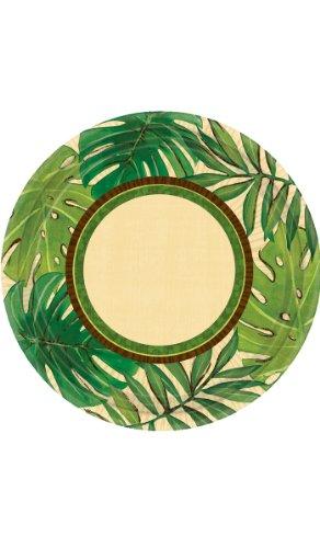 Island Palms Dessert Plates front-1078880