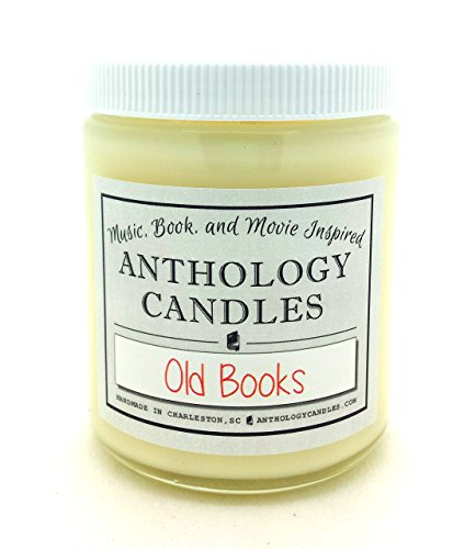 Old Books Candle - Old Books Scent, Paper Scented Candle, Gift for Book Lover, Book Candle, Gift for Reader