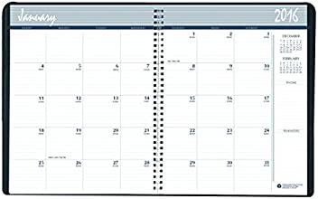 House of Doolittle 2016, 2017 Calendar Planner, Monthly, Black Cover, 8.5 x 11 Inches (HOD262002-16)