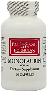 Ecological Formulas Monolaurin Capsules, 600 mg, 90 Count