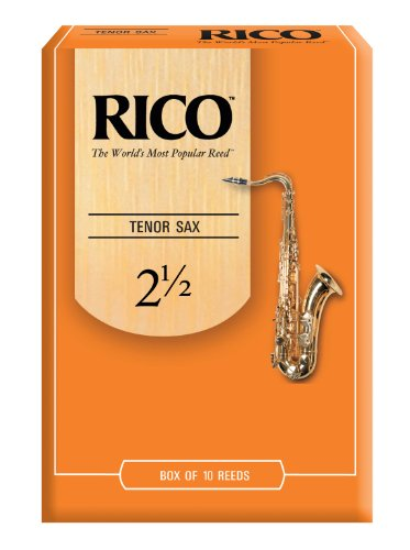 Rico Tenor Sax Reeds, Strength 2.5, 10-pack